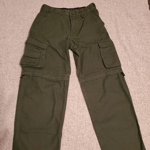 Offical Boy Scouts Green canvas pants Size 12